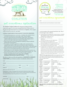 Southern Comfort Coalition Pet Assistance Community form